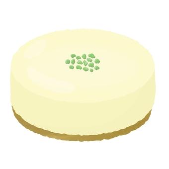 Pistachio whole rare cheese cake