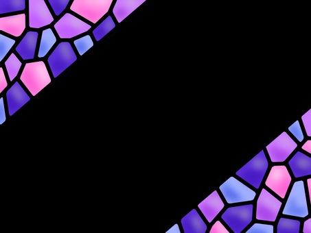 彩色玻璃框架紫色