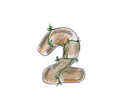 Number (wood 2)