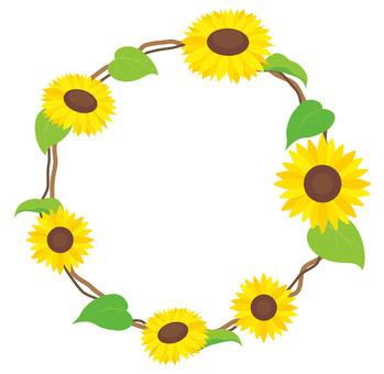Sunflower frame 06