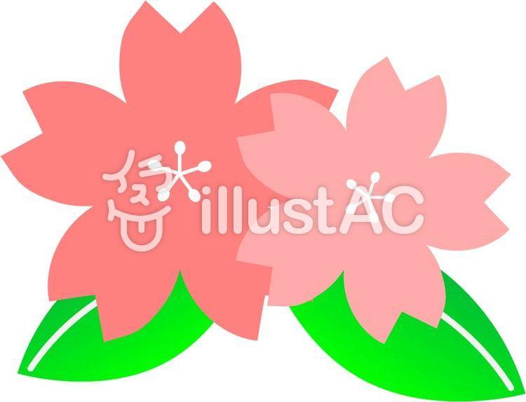 かわいい桜の花のイラスト
