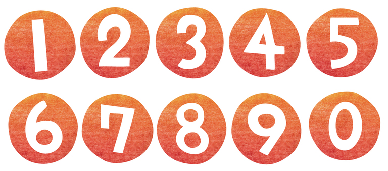 Numbers made with cutaway (circle)