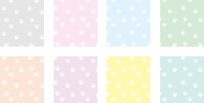 Footprint _ dogs and cats _ white
