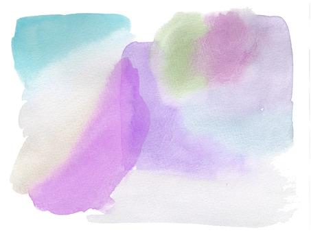 水彩画の背景-多色5