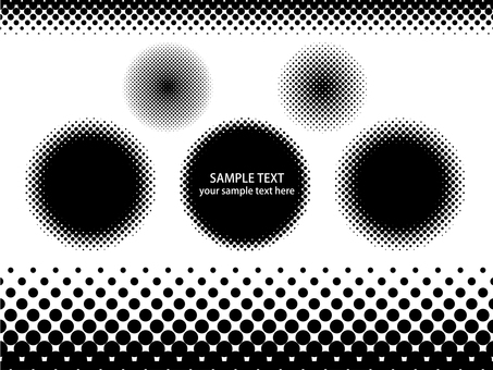 Halftone dot set