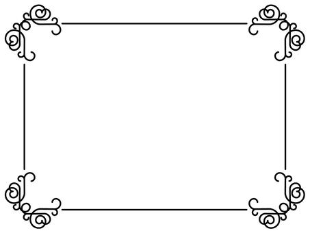 蔓藤花紋框架1