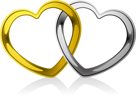 Heart _ ring _ intersection _ 02 _ gold silver