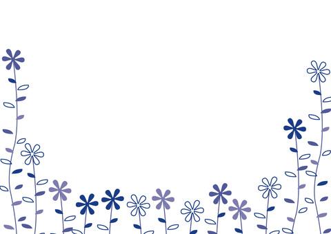 Plant pattern - Navy