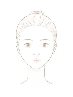 여성 얼굴 모델