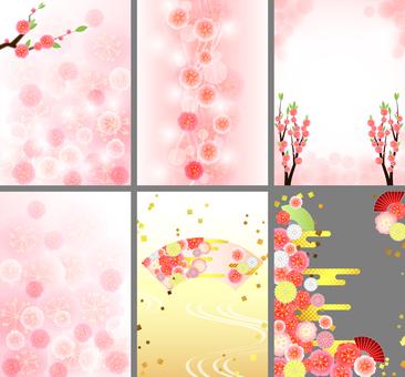 Hinamatsuri background 6 types set