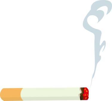 Cigarette, smoke, silhouette