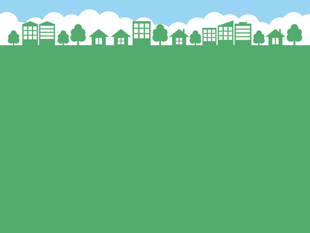 街 街並み 背景 濃緑