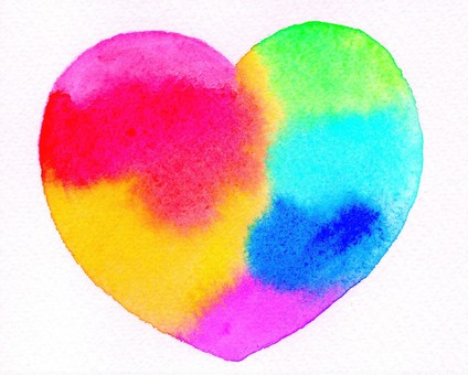 Rainbow-colored Heart