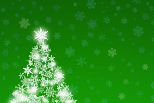 Green sparkling beautiful Christmas tree
