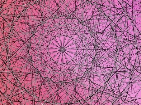핑크 기하학적