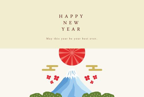 New Year's card 027 Mt. Fuji sunrise