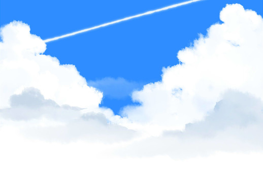 Airplane cloud and blue sky 1280 × 840