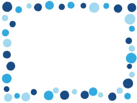 Handwritten Feng Shui Frame Blue