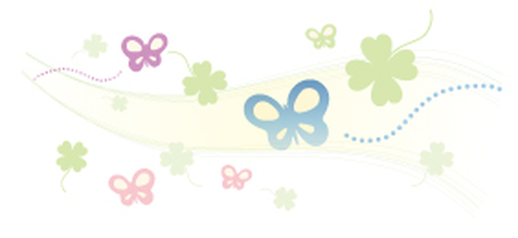 Butterflies and clover _ decorative rulers