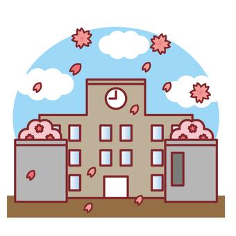 School building school spring