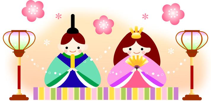 Illustration of doll festival