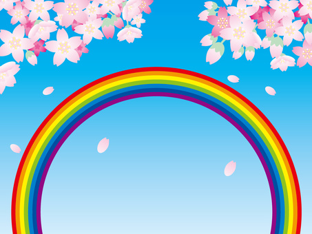 Rainbow and the Four Seasons (5) Cherry blossoms in spring