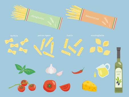 Various ingredients of Italian