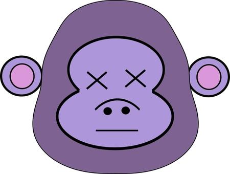 Cross eyes series 9, cross eyes gorilla