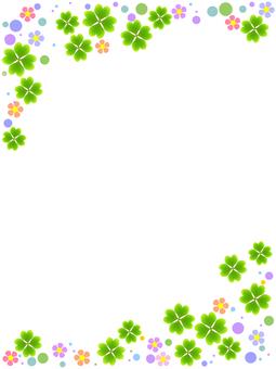 Four leaf clover frame decorative frame material image