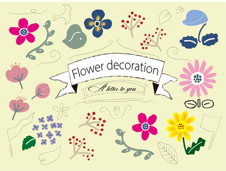 Flower decoration material
