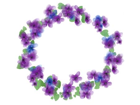 Violet round frame