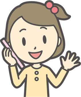 Girl yellow long sleeve -082- bust