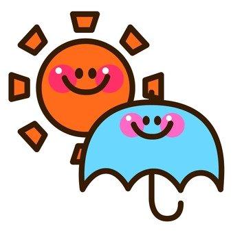 Sun and umbrella