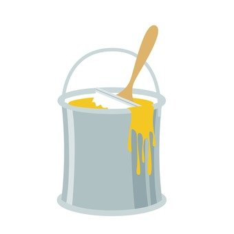 Paint cans yellow