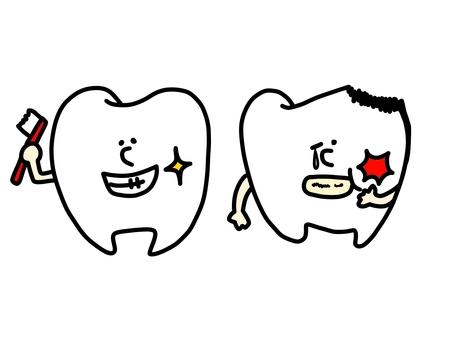 Clean teeth and caries