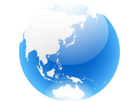 ai light blue earth icon
