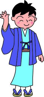 Men going out with kimono