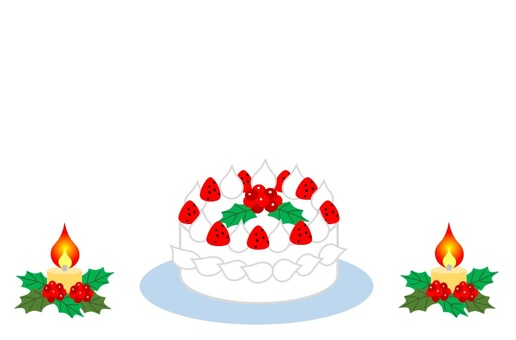 Christmas cake and candle