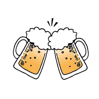 Draft beer toast