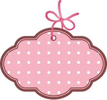 Pink polka dot plate