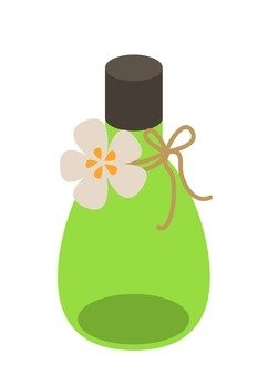 Bottle with flower decoration