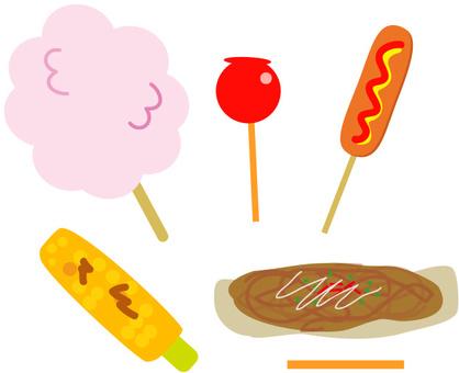 夏天的節日食品