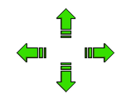 Dot picture arrow green