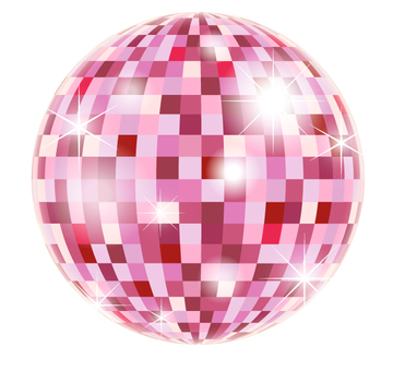 Mirror ball _ red