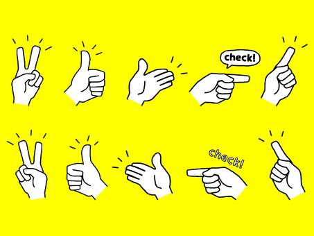 Hand sign set (simple)