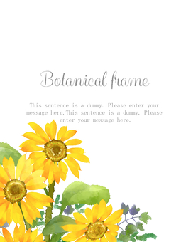 Sunflower frame 07