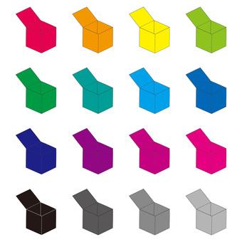 Empty box color set