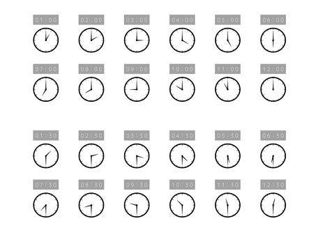 Simple watch set 12 hours 24 hours