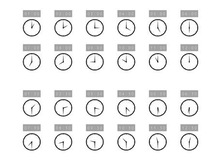 簡易手錶設置12小時24小時