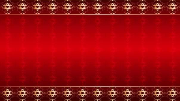 Rococo red wallpaper